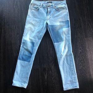 """Nudie Jeans Lean Dean """"Indigo Strip"""" 34x32"""